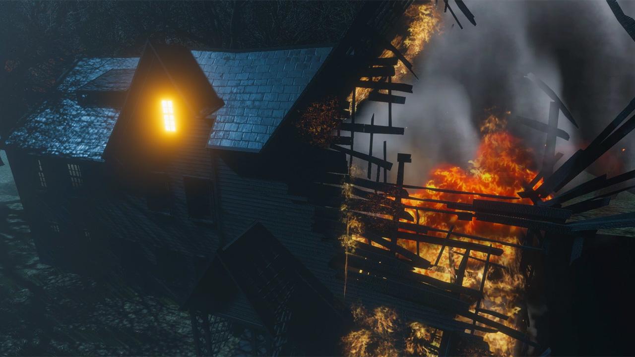 Пожар в доме Хаторна